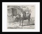 Trekos with yoke for the stable by Jacobus Cornelis Gaal