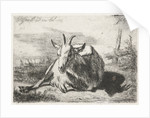 Lying goat, left by Jacobus Cornelis Gaal