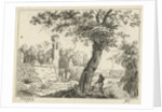 Landscape with ruins by Cornelis Ouboter van der Griendt