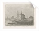 View of a mill on the waterfront by Jan van Lokhorst