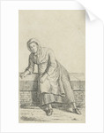 Woman sitting on a wall by Anthonie Willem Hendrik Nolthenius de Man