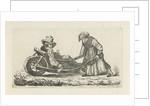Drunkard in a wheelbarrow by Anthonie Willem Hendrik Nolthenius de Man