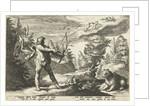 Arcas aiming his arrow at Callisto by Franco Estius