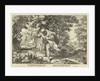 Teiresias stores in a forest two mating snakes by Workshop of Hendrick Goltzius