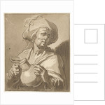 Man with pitcher by Hermanus Fock