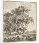 Landscape with man jar by Hermanus Fock