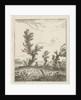 Artist between willows by Hermanus Fock