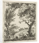 Landscape with herd of cattle by Hermanus Fock