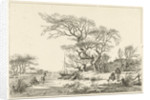 Winter Landscape with Skaters by Hermanus Fock