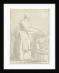 Fish cleaning woman by Hermanus Fock