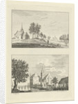 View of the chapel Willersche and the House den Ham on the Niers in Germany by Paulus van Liender