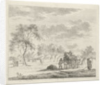 Landscape with hay wagon by Johannes Janson
