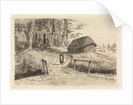 Landscape with bridge and barn by Elias Stark
