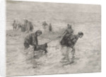 Children along the sea, Henri Wouters by Bernardus Johannes Blommers