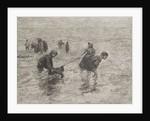 Children along the sea by Bernardus Johannes Blommers