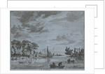 Activity on a river by Jan Vincentsz. van der Vinne