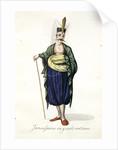 Jannissaire en grand costume by Mahmud II