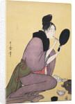 Kuchi-beni,Painting the lips by Utamaro Kitagawa