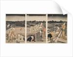 Sumidagawa funa-asobi,Pleasure-boating on the Sumida River by Utamaro Kitagawa