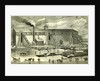 Ice Industry U.S.A. 1881 Winter View of Elevating Ice Into Buildings by Anonymous