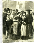 Holy Week Rome Italy 1866 Villagers Assembling for Religious Services by Anonymous
