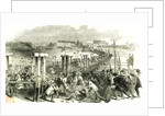 Cologne Köln 1846 the Charge of Cavalry Across the Bridge of Boats During the Riot at Cologne. by Anonymous