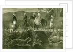 India 1885 Christmas at an Indian Hill Station Going Home after a Party. Bharat by Anonymous