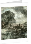 Flood Gates Sluice UK 1848 by Anonymous