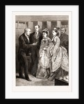 Cesarewitch And Cesarevna In The City—the Governor Of The Bank Presenting The Cesarevna And The Princess Of Wales With A Five-shilling Piece, London UK 1873 by Anonymous