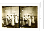 Japanese nurses attending to a patient in an operating room by Anonymous