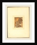 Roman Sacrifice, 1780, chiaroscuro aquatint in dark and light brown by Katharina Prestel