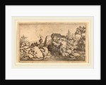 Horseman on a Stone Bridge by Allart van Everdingen