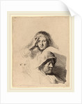 Three Heads of Women, One Lightly Etched, c. 1637 by Rembrandt van Rijn