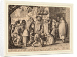 Procession of Feasting Lepers, 1608 by Claes Jansz Visscher