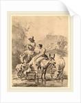 Shepherdess on a Donkey by Nicolaes Pietersz Berchem