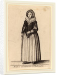Mulier ex inferiori Palainatu, 1643 by Wenceslaus Hollar
