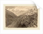 A Town on a Hilltop by Edward Lear