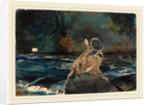 A Good Shot, Adirondacks by Winslow Homer