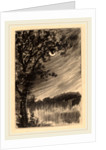 Moonlit Landscape with Tree at the Left by William Fowler Hopson