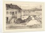 Low Tide, Cos Cob Bridge by Childe Hassam