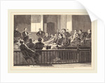 Jurors Listening to Counsel, Supreme Court, New City Hall, New York by Anonymous