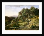 A View near Volterra, 1838 by Jean-Baptiste-Camille Corot