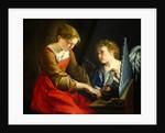 Saint Cecilia and an Angel by Orazio Gentileschi and Giovanni Lanfranco