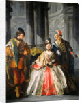 Three Figures Dressed for a Masquerade, c. 1740s by Louis-Joseph Le Lorrain