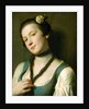 A Girl with a Flower in Her Hair by Pietro Rotari