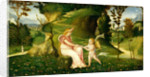 Venus and Cupid in a Landscape by Circle of Giorgione