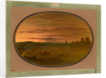 An Indian Encampment at Sunset by George Catlin