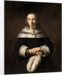 Dutch, Portrait of a Lady with an Ostrich-Feather Fan by Rembrandt van Rijn