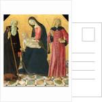 Italian, Madonna and Child with Saint Anthony Abbot and Saint Sigismund by Neroccio de' Landi