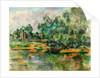 Riverbank, c. 1895 by Paul Cézanne